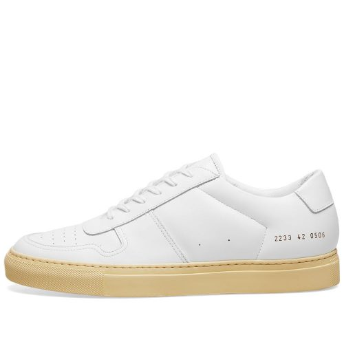 Mens Common Projects B-Ball Low Vintage Sole Sneakers in White