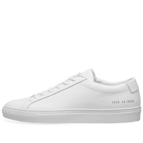 Mens Common Projects Original Achilles Low Sneakers in White