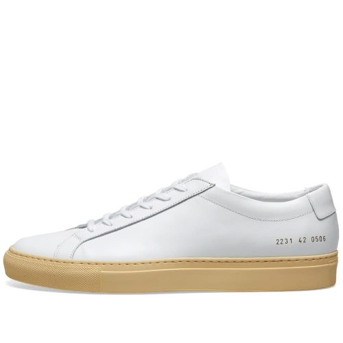 Mens Common Projects Original Achilles Low Vintage Sole Sneakers in White