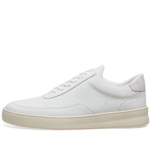 MensFilling Pieces Low Mondo Plain Nardo Nubuck Sneakers in White