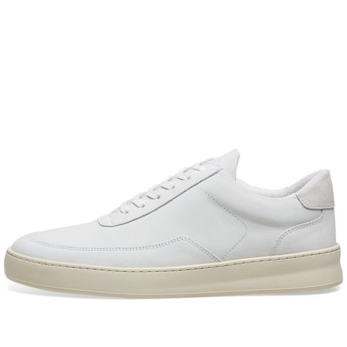 Mens Filling Pieces Low Mondo Plain Nardo Nubuck Sneakers in White