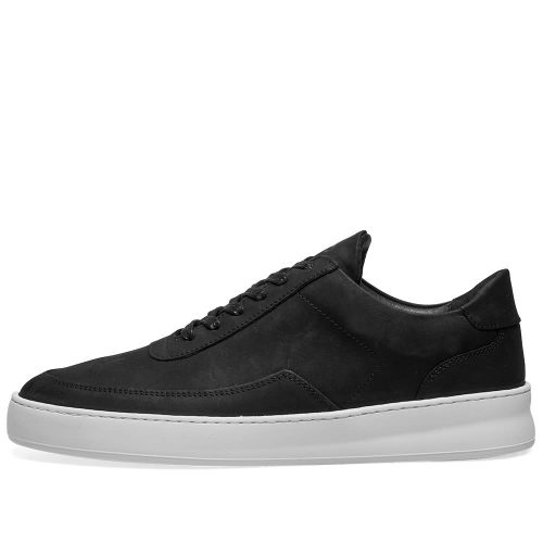 MensFilling Pieces Low Mondo Plain Nardo Nubuck Sneakers in Black