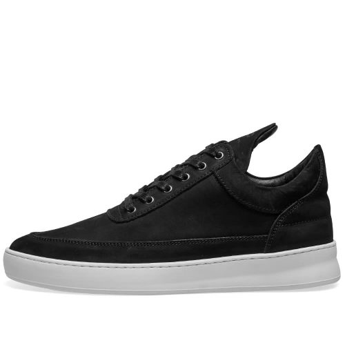 Mens Filling Pieces Low Top Lane Nubuck Sneakers in Black