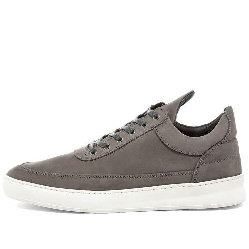 MensFilling Pieces Low Top Lane Nubuck Sneakers in Dark Grey