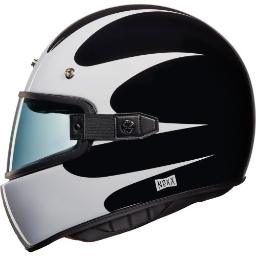 Mens Nexx X.G100 Southsider Motorcycle Helmet in Black & White