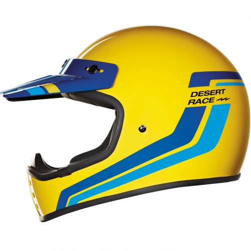 Mens Nexx X.G200 Desert Race MX Motorcycle Helmet in Yellow
