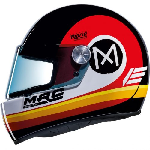 Mens Nexx x Maria X.G100R Jupiter Motorcycle Helmet in Black & Red