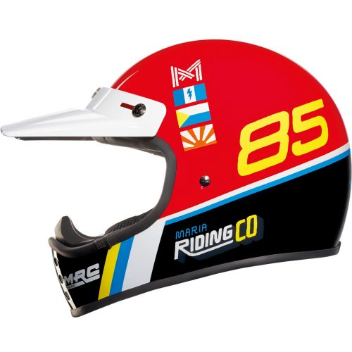 Mens Nexx x Maria X.G200 Dusty Frog Motocross Helmet in Black & Red