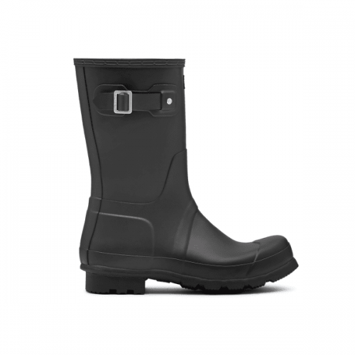 Mens Hunter Original Short Wellington Boots in Black
