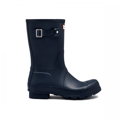 Mens Hunter Original Short Wellington Boots in Navy Matte