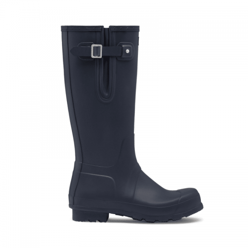 Mens Hunter Original Tall Side Adjustable Wellington Boots in Matte Navy