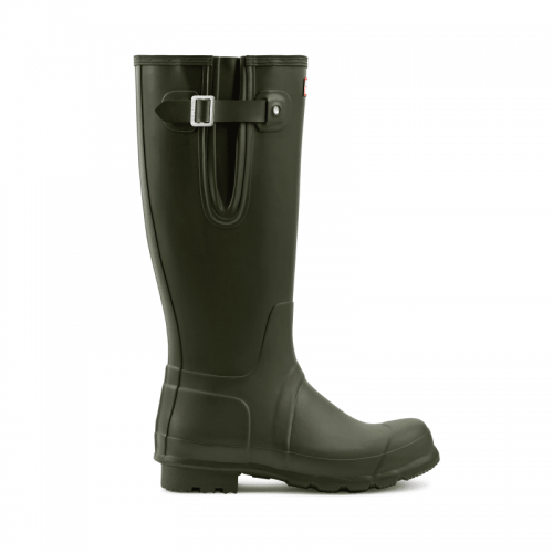 Mens Hunter Original Tall Side Adjustable Wellington Boots in Dark Green