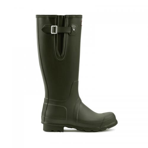 Mens Hunter Original Tall Side Adjustable Wellington Boots in Dark Green