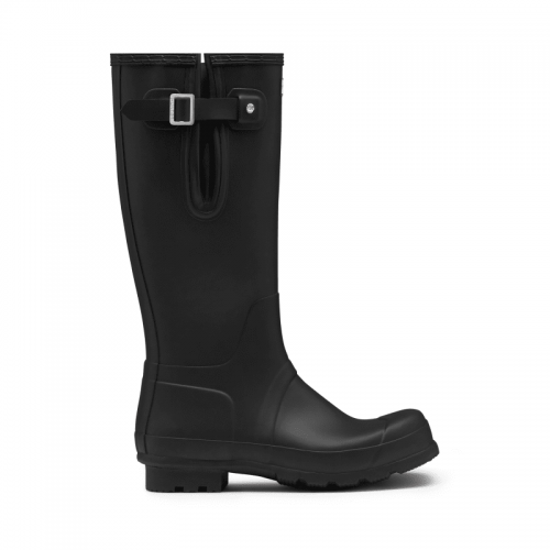 Mens Hunter Original Tall Side Adjustable Wellington Boots in Matte Black