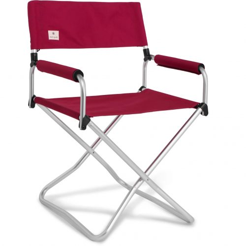 Mens Snow Peak Folding Aluminium and Canvas Chair in Red