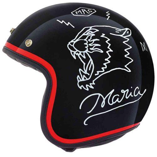 MensNexx x Maria X.G10 Drake Jet Motorcycle Helmet in Black & Red