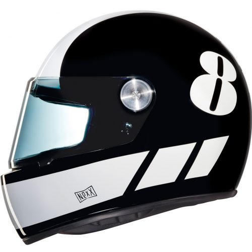 Mens Nexx X.G100R Billy B Motorcycle Helmet in Black & White