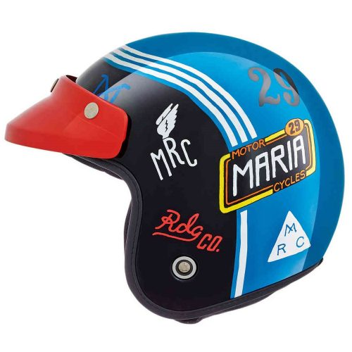 Mens Nexx x Maria XG.10 Muddy Hog Jet Motorcycle Helmet in Blue