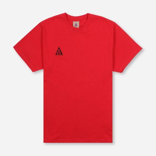 Mens Nike ACG Logo T-Shirt in Red