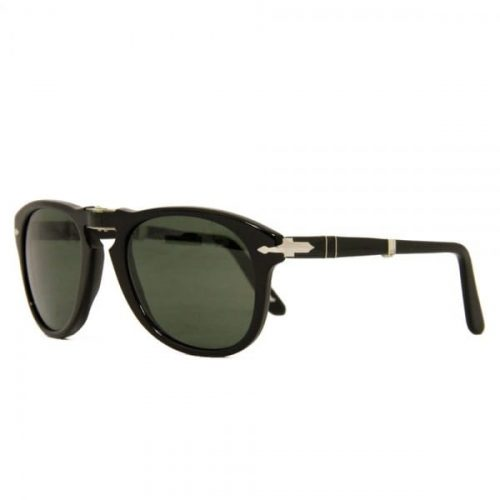 Mens Persol 714 Foldable Sunglasses in Black