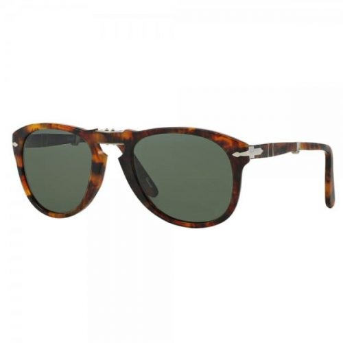 Mens Persol 714 Foldable Polarized Sunglasses in Caffe Light Tortoise
