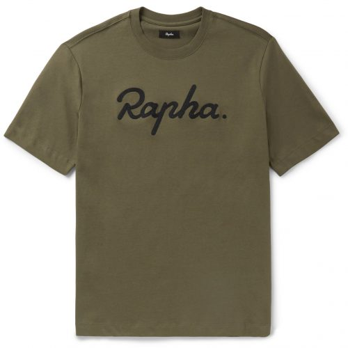 Mens Rapha Logo-Embroidered Cotton-Jersey T-Shirt in Green