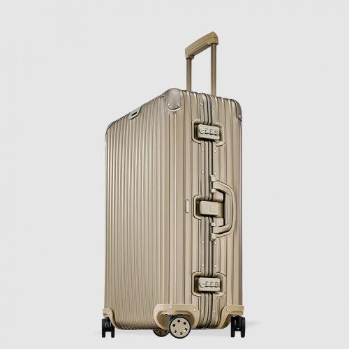 Mens Rimowa TOPAS TITANIUM Suitcase in Gold