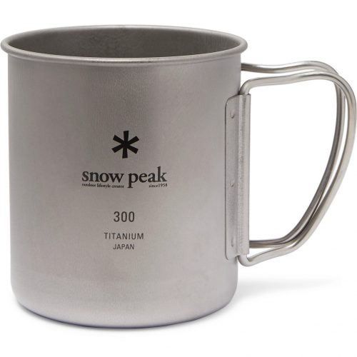 MensSnow Peak Titanium Mug in Silver