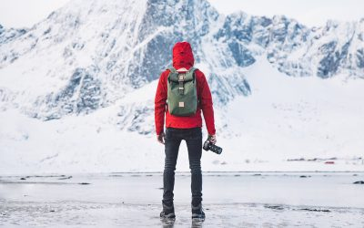 The Level Collective Outdoor Clothing - Green Backpack In Arctic Norway | SEIKK Magazine