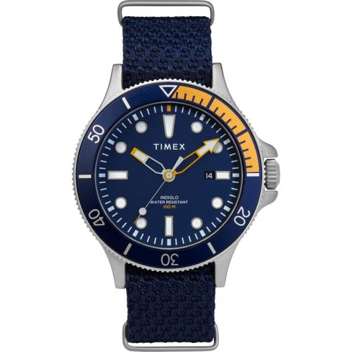 Mens Timex Allied Coastline Watch in Blue