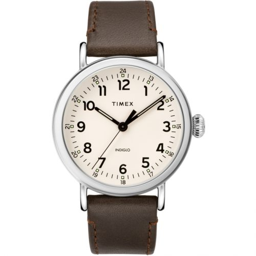 Mens Timex Standard Watch in White & Silver