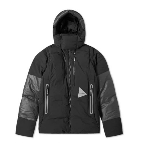 Mens And Wander Heather Ripstop Down Jacket in Black
