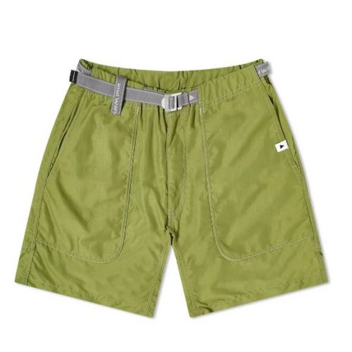 Mens And Wander Nylon Climbing Shorts in Leaf Green