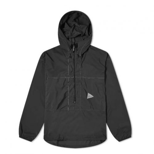 Mens And Wander Pertex Wind Pullover Jacket in Black