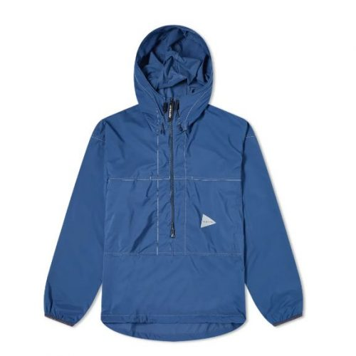 Mens And Wander Pertex Wind Pullover Jacket in Blue