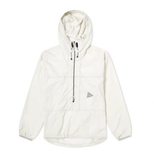 Mens And Wander Pertex Wind Pullover Jacket in Off-white