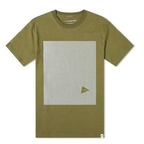 MensAnd Wander Reflective T-Shirt in Khaki