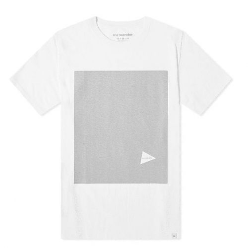 Mens And Wander Reflective T-Shirt in White