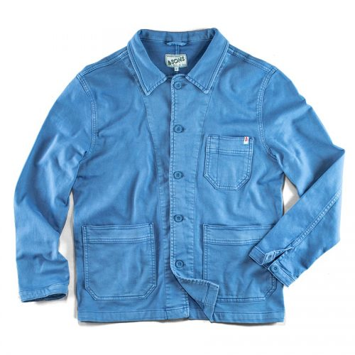 Mens&SONS Blue Bolt Chore Jacket in French Blue
