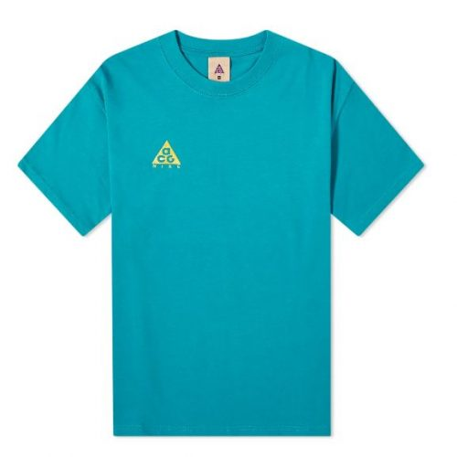 Mens Nike ACG Logo T-Shirt in Blue Green