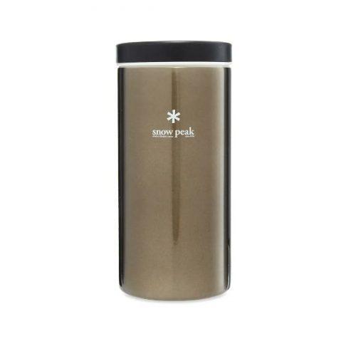 Mens Snow Peak Kanpai Flask 350ml in Dark Silver