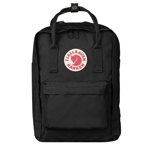 Mens Fjallraven Kanken 13 Laptop Backpack in Black