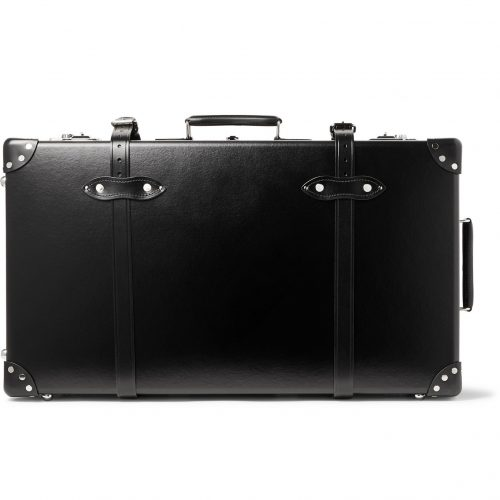 Mens Globe-Trotter 30 Leather-Trimmed Trolley Case in Black