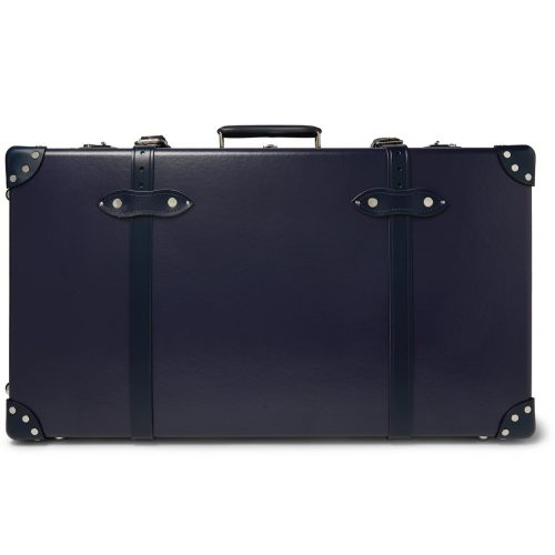 Mens Globe-Trotter 30'' Leather-Trimmed Trolley Case in Blue