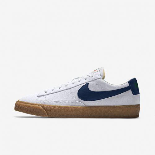 MensNike iD Blazer Low Sneakers in White Gum