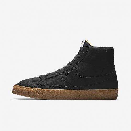 MensNike iD Blazer Mid Sneakers in Black Gum