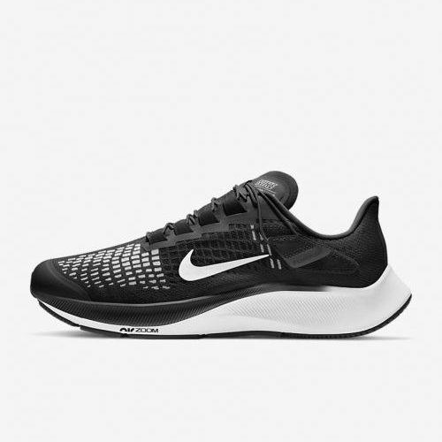 Mens Nike iD Pegasus 37 FlyEase Sneakers in Black