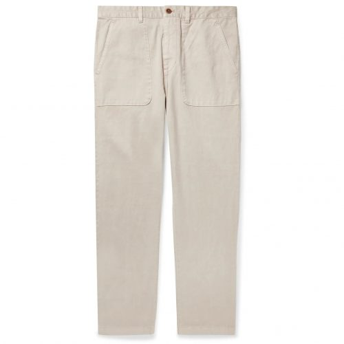 Mens Outerknown Balsa Hemp and Organic Cotton Trousers in Beige