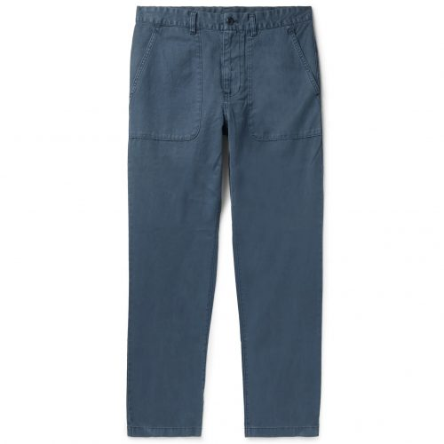 Mens Outerknown Balsa Hemp and Organic Cotton Trousers in Blue