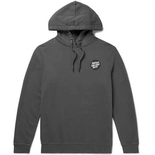 MensOuterknown Printed Loopback Organic Cotton-Blend Hoodie in Grey